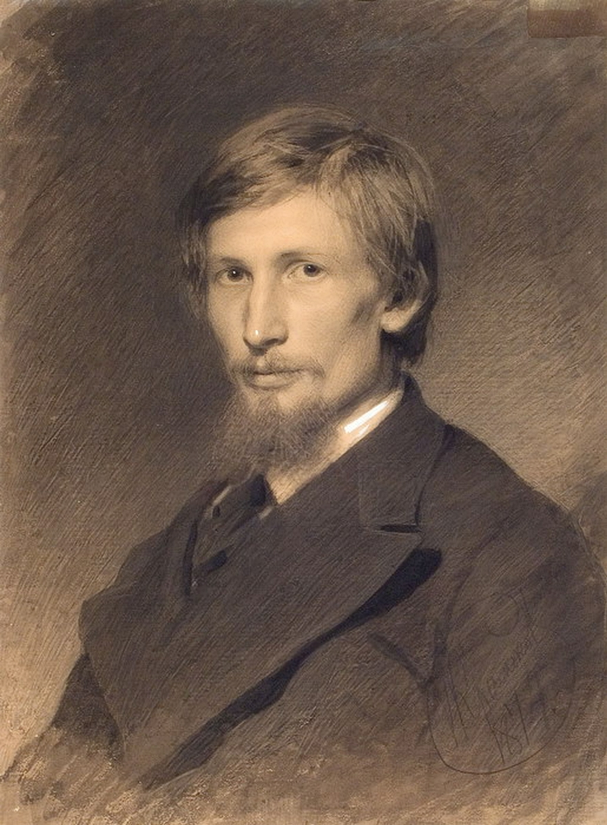 Крамской. Портрет художника Виктора Михайловича Васнецова. 1874
