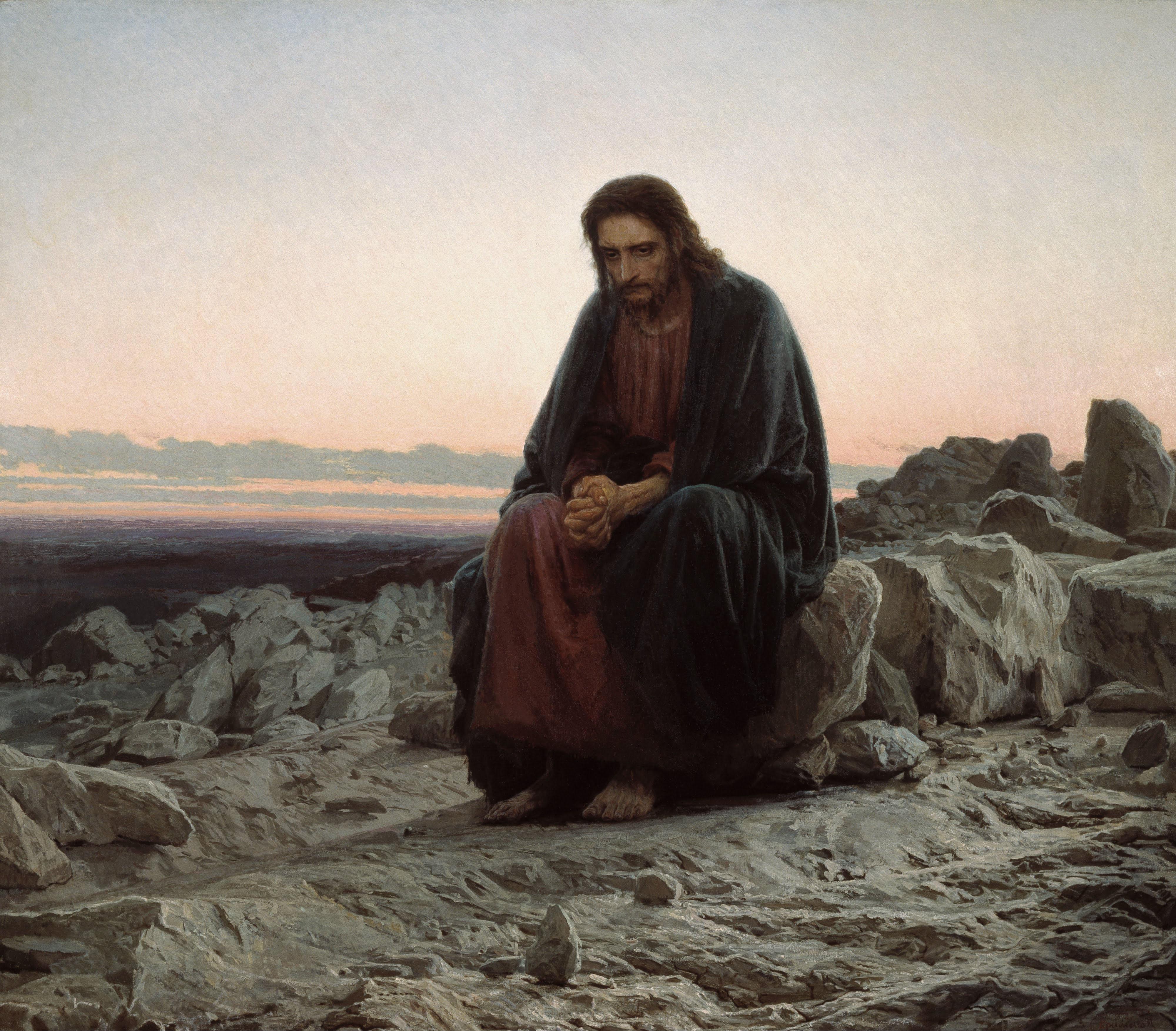 Крамской. Христос в пустыне. 1872