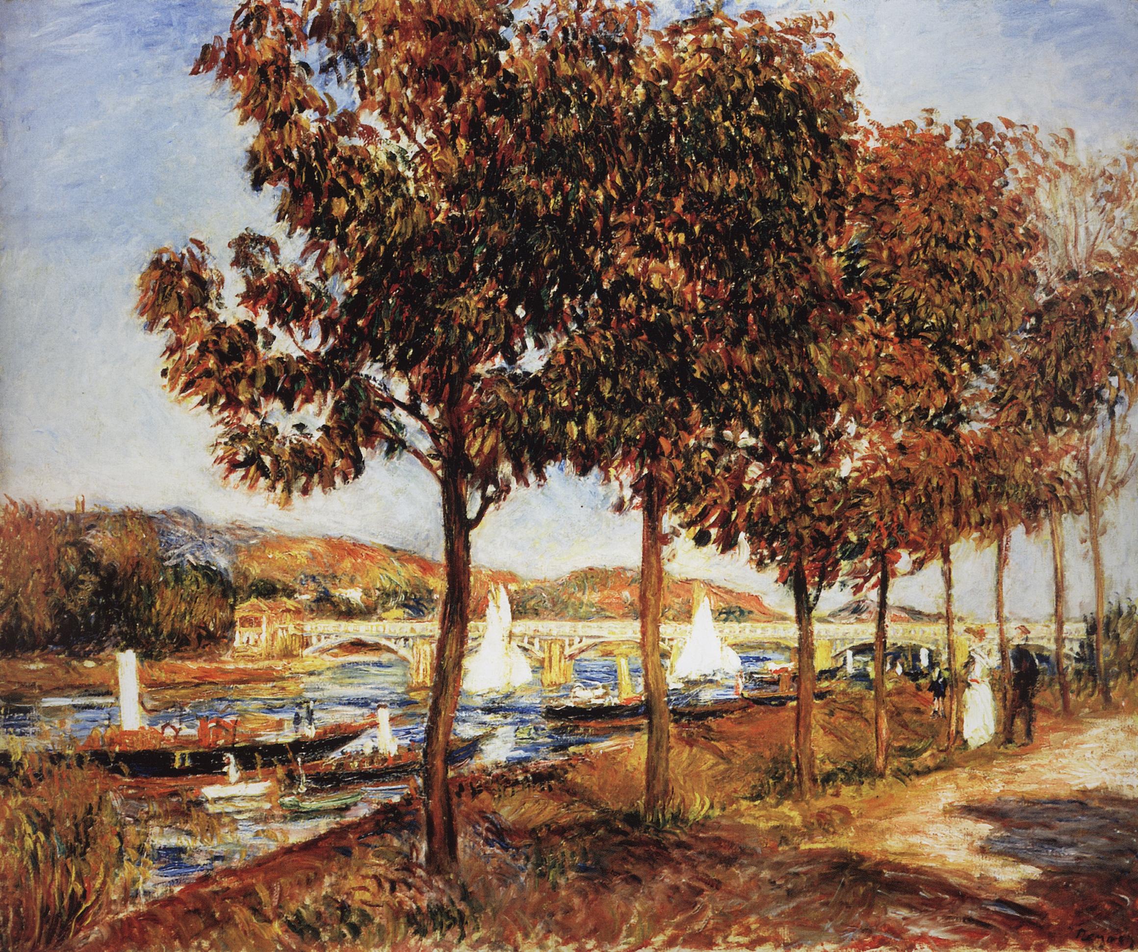 Ренуар. Мост в Аржантейе осенью. 1882