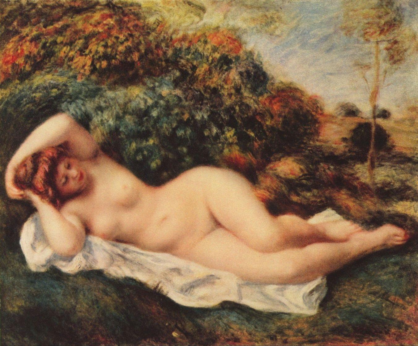 Ренуар. Спящая купальщица (Булочница). Около 1904