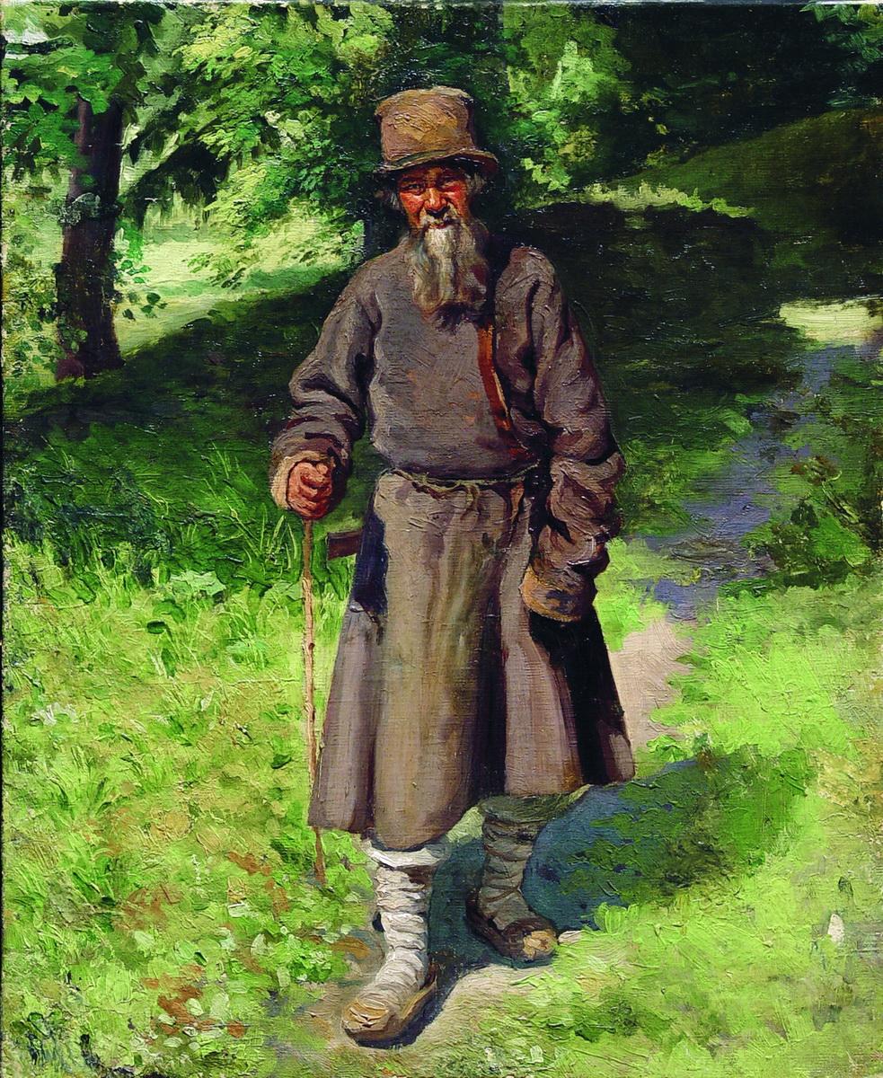 Ярошенко. Крестьянин в лесу. 1880-1890-е