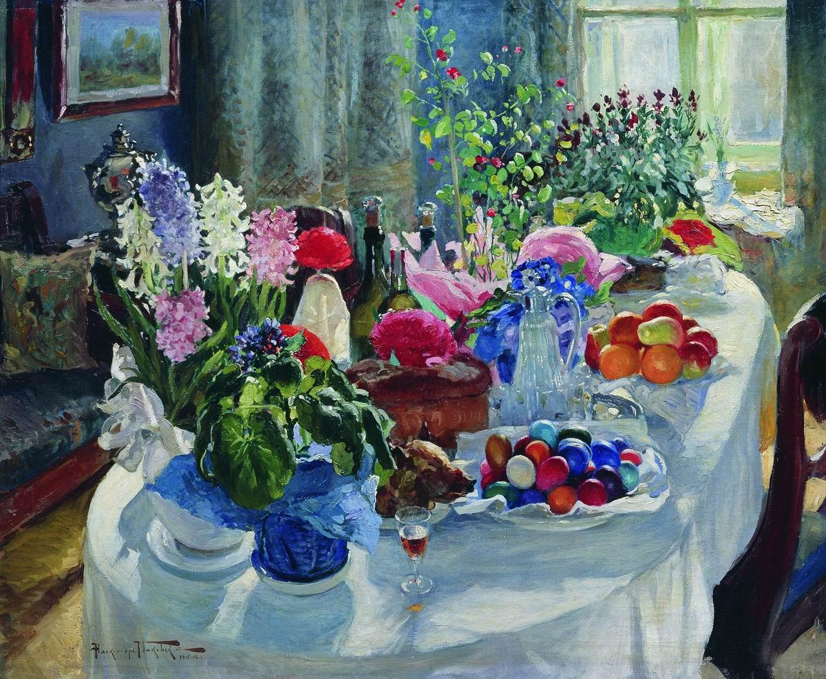 Маковский А.. Пасхальный стол. 1915-1916
