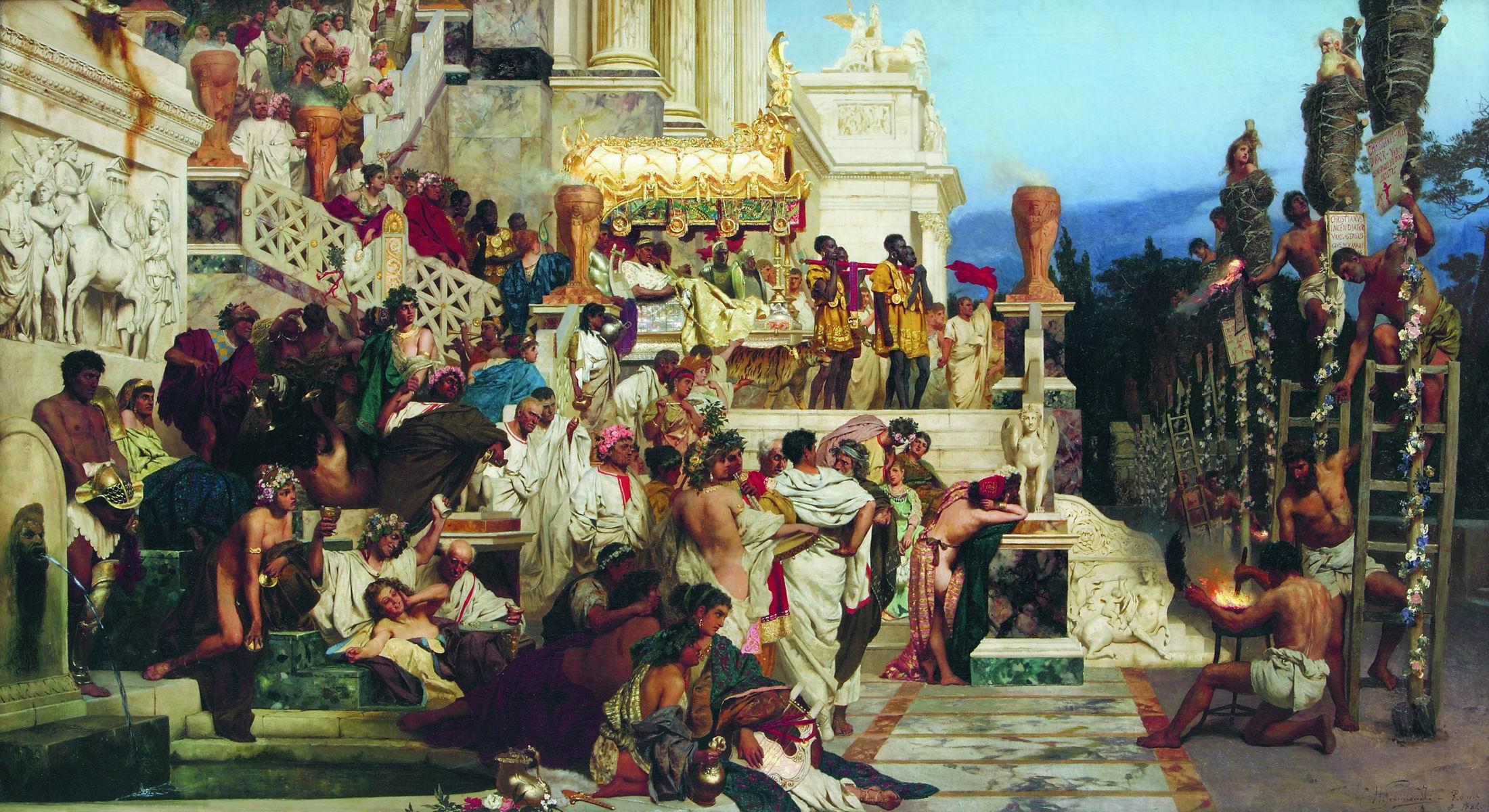 Семирадский. Светочи христианства (Факелы Нерона). 1882