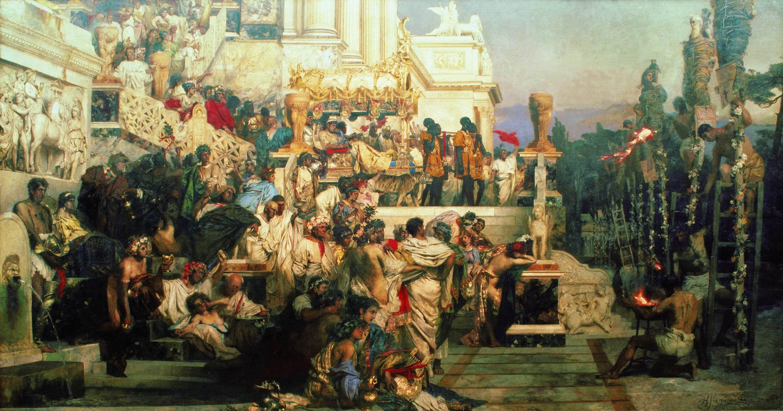 Семирадский. Светочи христианства (Факелы Нерона). 1876-1877
