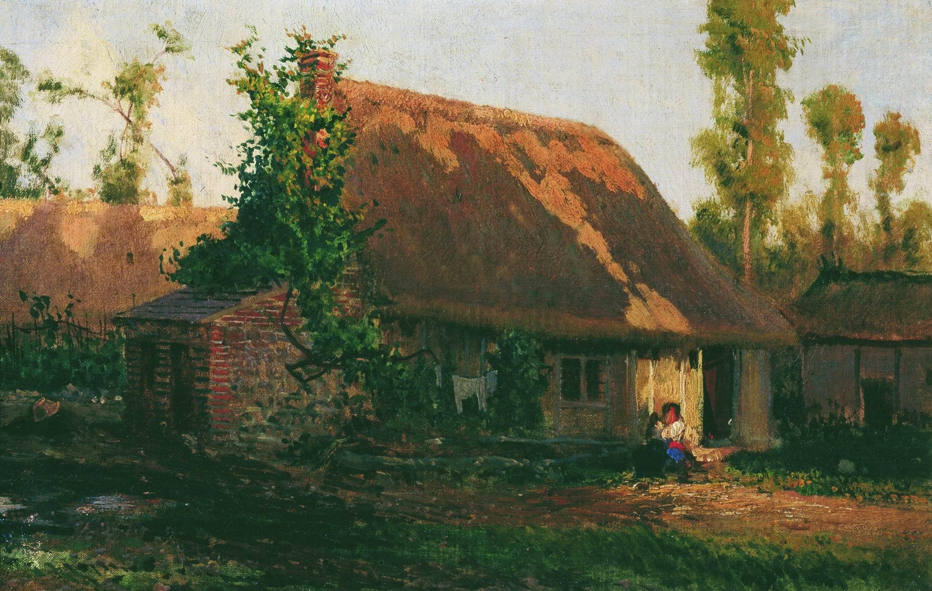 Боголюбов. Домик в Вёле. 1877