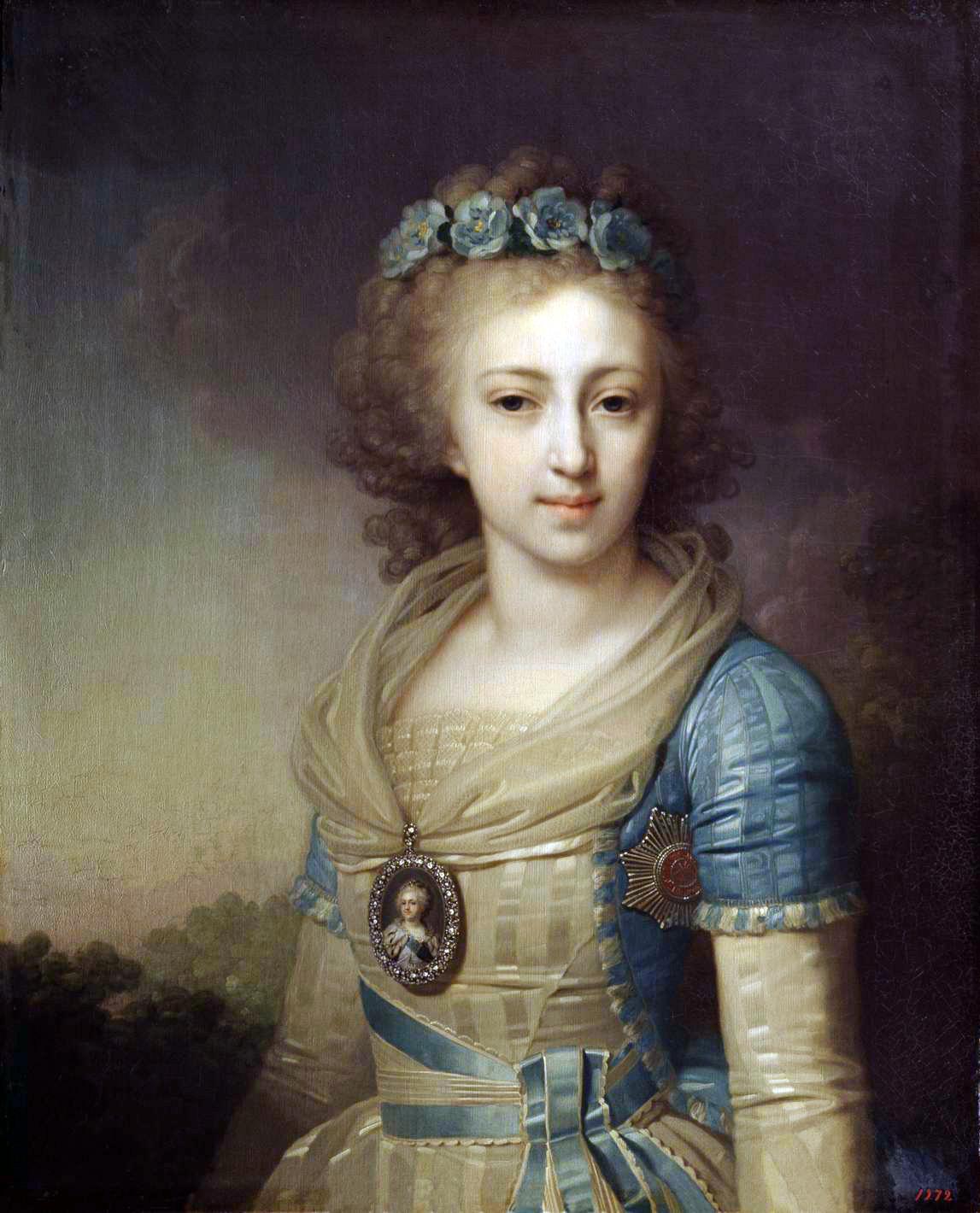 Боровиковский. Портрет великой княжны Елены Павловны. 1796