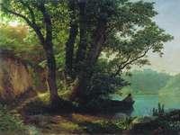Лагорио. Пейзаж с озером