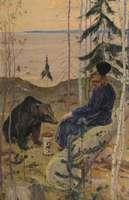 Нестеров М.. Пустынник и медведь